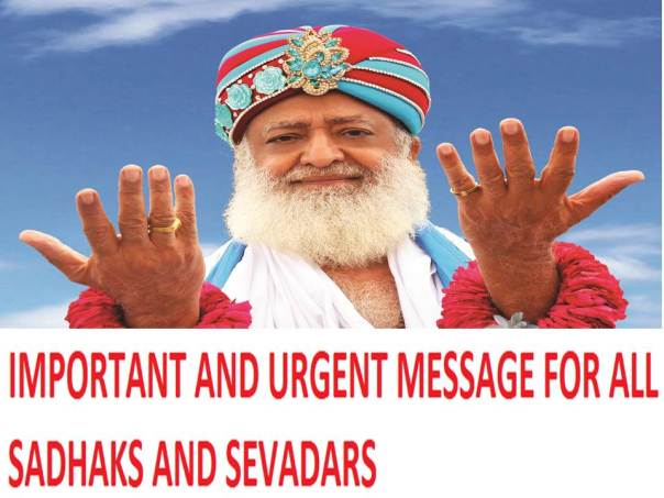 #Bail4Bapuji Urgent and important twitter message for all Sadhaks and Sevadars